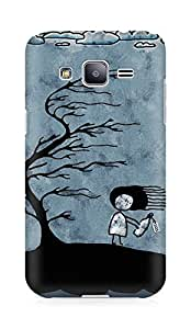Amez designer printed 3d premium high quality back case cover for Samsung Galaxy J2 (Girl n Tree)