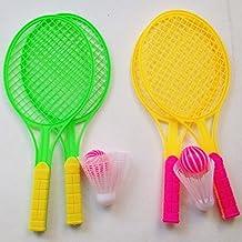 Generic 2Pcs Kids Badminton Rackets Set Tennis Racket Toy Outdoor Sport Funny Gift
