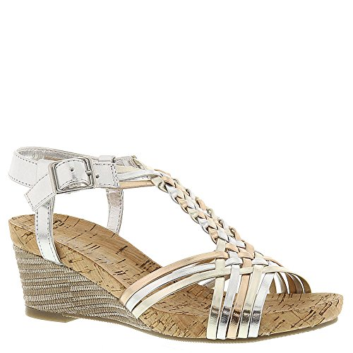 Kenneth Cole Reaction Swirl Power Wedge Sandal (Little Kid/Big Kid), Metallic/Multi, 1 M US Little Kid