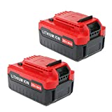 efluky 4.0Ah 2Pack 20-volt MAX Lithium Ion Replacement Batterty for PORTER CABLE PCC685L