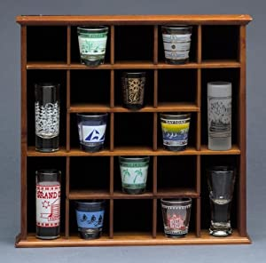 wood bar shot glass wall mount display case wall mounted cabinets. Black Bedroom Furniture Sets. Home Design Ideas