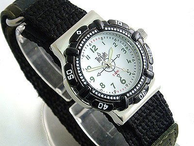 Ladies White Terrain Boardrider Sports Surf Watch-Velcro Strap+Rotating Bezel-50m Water Resitant-968l