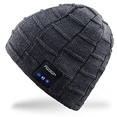 Bluetooth Beanie Hat,Mydeal Winter Warm Soft Knit Cap with Wireless Headphone Headset Earphone Stereo Speaker Microphone Hands Free for Outdoor Sport,Compatible with Iphone Android Cell Phones by MYDEAL