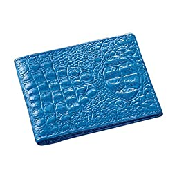 Qianmufan Leather Unisex Driving License Case Blue