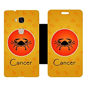 Phone Candy Designer Flip Cover with hi-res printed Vinyl sticker wrap-around for Huawei Honor 5X