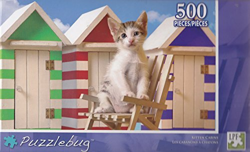Puzzlebug 500 Piece Puzzle ~ Kitten Cabins