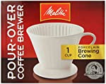 Melitta 64101 Porcelain #2 Cone Brewer by Melitta