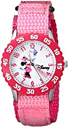 Disney Girls' W000025 Minnie Mouse Watch with Pink Nylon Band