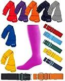 Joe's USA - Baseball Socks & Belt Combo Set ( All Sizes & Colors Available)