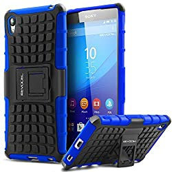 Evocel Sony Xperia Z4 Case - Heavy Duty Armor Case with Stand For Sony Xperia Z4 (2015 Release) - Evocel Retail Packaging Blue