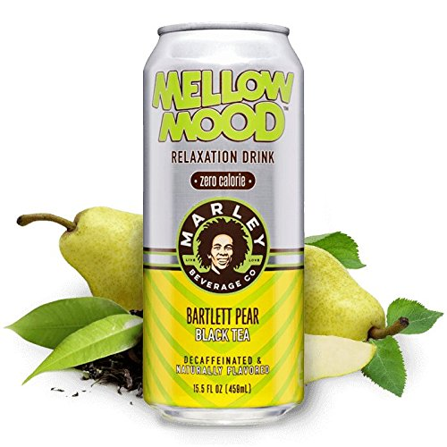 16 Pack - Marley Mellow Mood Relaxation Drink - Bartlett Pear Black Tea - 16oz. (Energy Drinks Red Line compare prices)