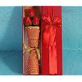 【ELEEJE】女性への プレゼント へ 枯れない 花 ブリザードフラワー 風 クリスマス 誕生日 記念日 (3本入り 赤)