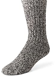 Wigwam Men\'s EL-Pine Ragg Wool Crew Socks, Salt & Pepper, Large