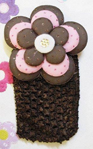 TheTickleToe Baby Kids Girls Fancy Flower Elastic Thick Crochet Headband Birthday Party Casual Hair Accessory