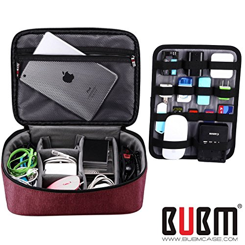 bubm-large-electronic-accessories-organizerselectronic-accessories-carrying-bag-with-cable-plate-red