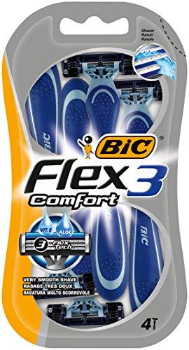 Numero BIC Flex 3 e getta Rasoi Comfort - 4 pacchetti