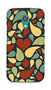 Amez designer printed 3d premium high quality back case cover for Motorola Moto G2 (Pattern Beautiful)