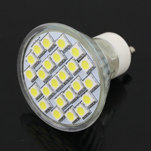 Gu10 5W Led Bulb Pure White Ac(110V-220V) Source(High Performance Led Smd 5050)