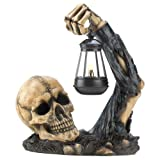 Skull With Lantern Halloween Decoration