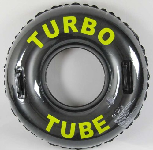 Turbo Tube 30 inch (76cm) Inflatable Swimming Ring Swim Tube Pool Tyre with 2 Grab Handles