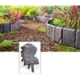 Collections Etc Interlocking Faux Stone Border - Set Of 10