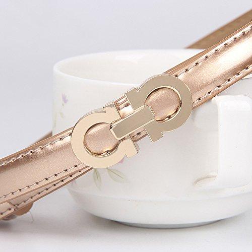 Leather female thin belt waist chain belt female decoration 98cm Gold belts, leather belts, waist belt, designer belts, belt buckles,women