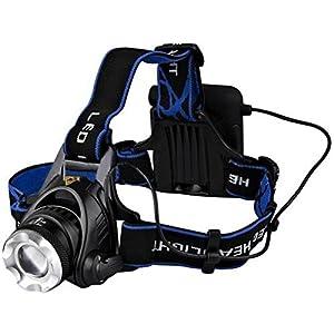 Lampe frontale, imarku Lampe de front/Projecteur Phares LED CREE de Haute Luminosité-Bleu
