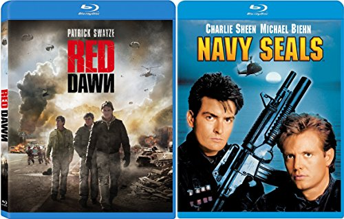 Navy Seals & Red Dawn War 2 Pack Military Charlie Sheen Movie Action Set