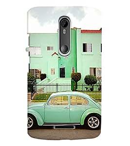 Printvisa Vintage Automobile Pic Back Case Cover for Motorola Moto X3::Motorola Moto X (3rd Gen)