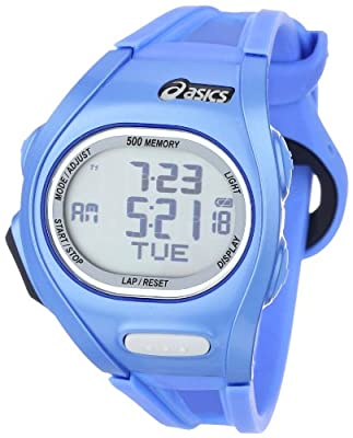 Asics Unisex Race CQAR0105 Blue Polyurethane Quartz Watch with Digital Dial by Asics