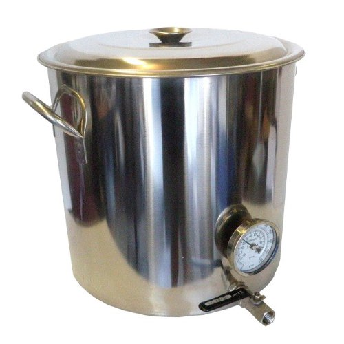 HomeBrewStuff 32 QT Stainless Steel Home Brew Kettle with Valve and Thermometer (Home Brew Kettle compare prices)