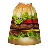 ファンタジーバーガーキングのパターンの女性フルプリーツファッションミディスカート