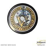 Signed Mike Lange Hockey Puck - Pittsburgh Penguins 91 92 Stanley Cup Champions - Autographed NHL Pucks