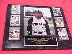 Roberto Clemente Pittsburgh Pirates 6 Card Collector Plaque w 8x10 Photo by J & C Baseball Clubhouse