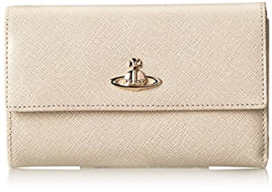 Vivienne Westwood Opio Saffiano 32-563 Wallet,Beige,One Size