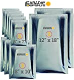 Faraday Cage EMP/ESD Bags Premium 10pc 7.0mil THICK & Heavy Duty Nesting Kit X-Large Laptop / Notebook iPad Windows