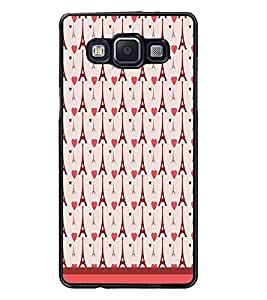 PrintDhaba Tower Pattern D-1798 Back Case Cover for SAMSUNG GALAXY E5 (Multi-Coloured)