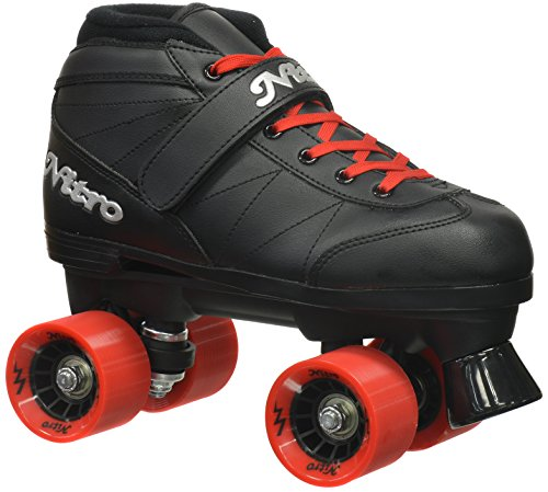 Epic Skates 2016 Epic Super Nitro 5 Indoor/Outdoor Quad Speed Roller Skates, Red