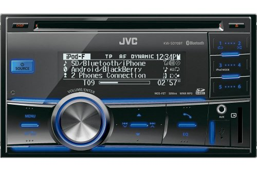 Buy JVC Car Audio - Jvc Kw-Sd70bt Double Din Car Stereo With Built In Bluetooth Sd Card Reader