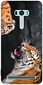 The Racoon Lean printed designer hard back mobile phone case cover for Asus Zenfone Selfie. (the tiger)