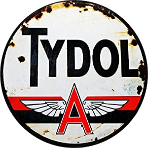 .com - Tydol Motor Oil And Gas Sign Garage Art Reproduction Sign