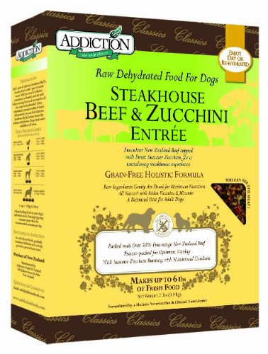 Addiction Pet Foods Steakhouse Beef and Zucchini Entr e Dog Food 2 Pound