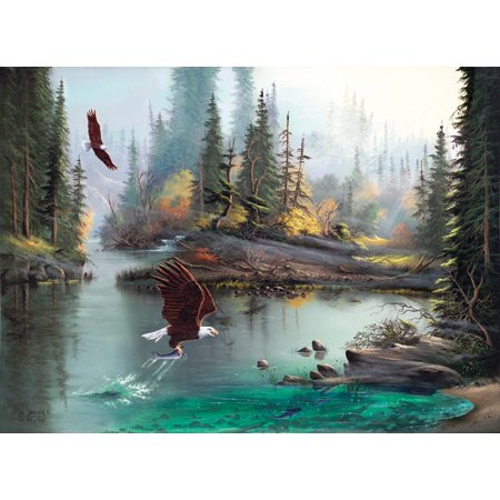 Cheap SunsOut Lionel Dougy and T. Atkinson River Eagles 1000+pc Jigsaw Puzzle (B001YJZNVC)