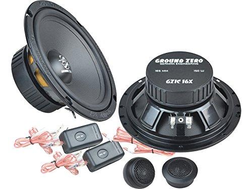 Ground-Zero-Iridium-Lautsprecher-Kompo-System-300-Watt-VW-Golf-V-5-alle-Einbauort-vorne-Tren-hinten