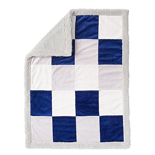 Koala Baby Sherpa Blanket - Patchwork - Blue/Gray - 1