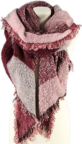 Boucle Sciarpa XXL Passigatti sciarpa invernale sciarpa Taglia unica - rosaantico