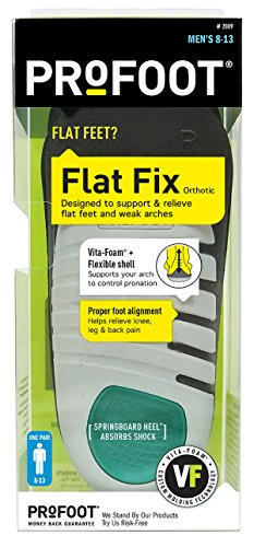 PROFOOT Flat Fix Orthotic, Men's 8-13, 1 Pair (Flat Feet Insoles compare prices)