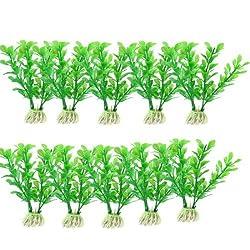 Green Aquarium Landscaping 4.3High Aquatic Plant Decoration 10 Pcs