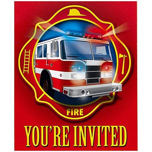 Fire Trucks Invitations (8) - 1