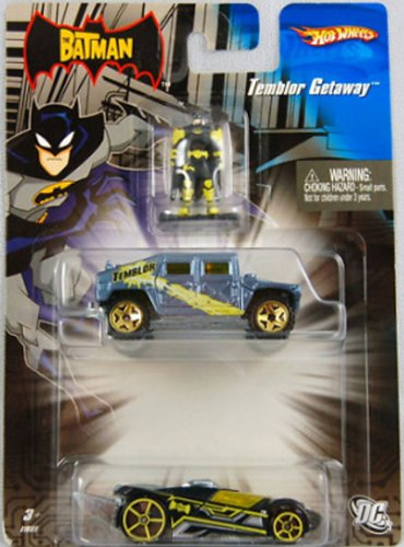 The Batman Hot Wheels Temblor Getaway Die-Cast Car Set with Batman Figure - 1